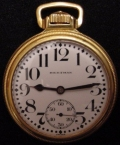 1950′S SWISS POCKET WATCH   Nice Shape