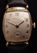 UNIQUE VINTAGE CUSHION BULOVA WITH FANCY LUGS