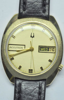 14K Solid Gold Bulova Accutron 218 Circa 1973